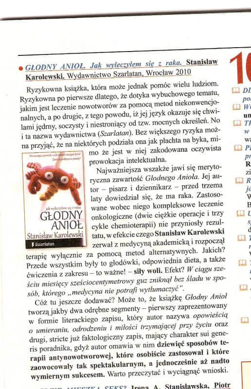 Recenzja Głodnego Anioła – Nieznany Świat wrzesień 2010