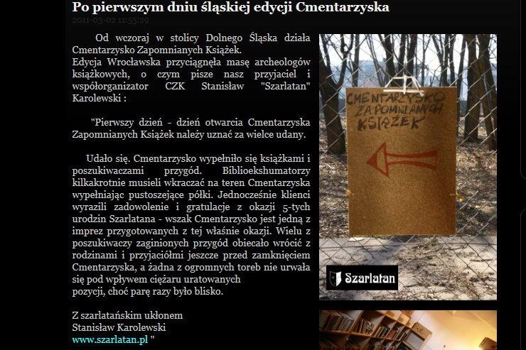 O Cmentarzysku w serwisie Przeczytaneksiazki.pl