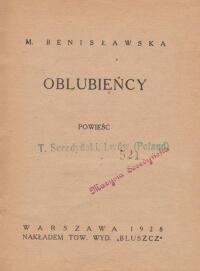 Benislawska M. Oblubiency  Antykwariat Szarlatan Wroclaw