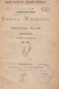 Deslys K Dziedzictwo Karola Wielkiego  Antykwariat Szarlatan Wroclaw
