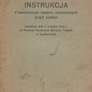 instrukcja o kanonicznym