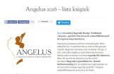 """Nominacja do """"Angelusa"""" dla naszej książki"""